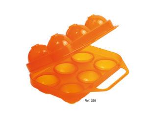 portauova in plastica - contiene 6 uova -