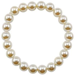 """bracciale elasticizzato con perle """"swarosky"""" - made in austria -"""