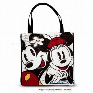 borsa in tessuto Mickey mouse - colori assortiti - in puro cotone -