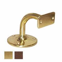 supporto corrimano in ottone bronzato - modello tondo  - attacco piano -