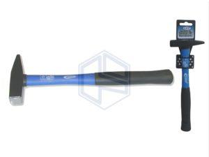 martello da banco gr.100- manico in fibra con impugnatura in gomma -