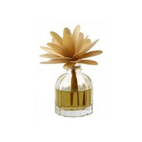 profumatore con diffusore in legno - essenza: ambra - vaniglia -