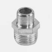 nipplo ridotto da 3/8-1/4 in acciaio zincato-