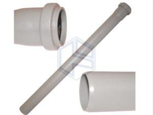 tubo polipropilene grigio  diam. mm 110 - lunghezza cm 100 - con un bicchiere -