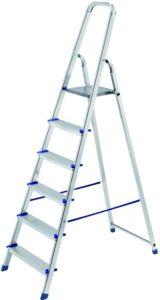 scala in alluminio 6 gradini -   portata 100 kg -