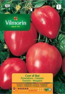 bustina con semi di pomodoro cuor di bue - made in france -