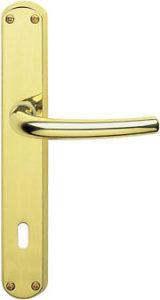 maniglia in ottone lucido - Q 8 P 90 - per porte interne -