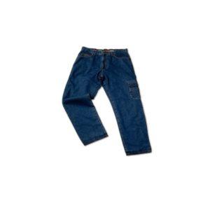 pantaloni in tessuto cotone tipo jeans -con imbottitura interna - con tasche portattrezzi - taglia 52 - L -