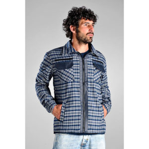 camicia felpata - con imbottitura in pile - tessuto 170gr/m2 esterno - tessuto 220gr/m2 interno - chiusura con cerniera - 6 tasche - colore scozzese -
