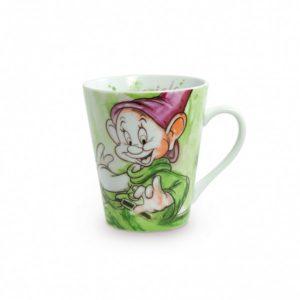 mug in porcellana - decorato - con cucchiaino -