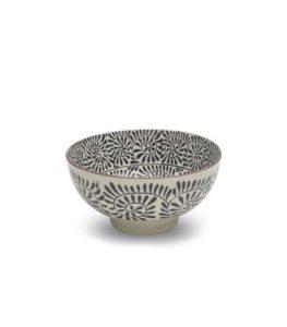 scodella in porcellana - diametro cm 15 - colore bianco -nero