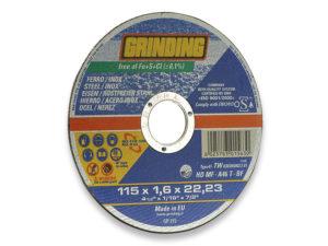 disco abrasivo per taglio - ideale per inox,ferro,ghisa - diametro mm.115 - spessore mm.115 -