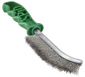 spazzola spid - in acciaio inox - manico verde -