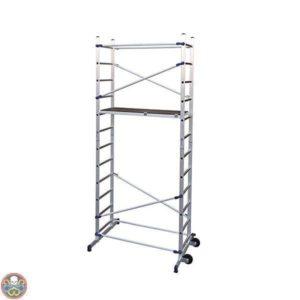 montaggio rapido- sistema clic - piano legno alluminio - h.maxlavoro 4,36 m - portata max 150kg - peso 34 kg - 365x156x58cm -